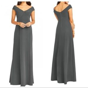 Show Me Your MuMu Zurich Knot Charcoal Gown
